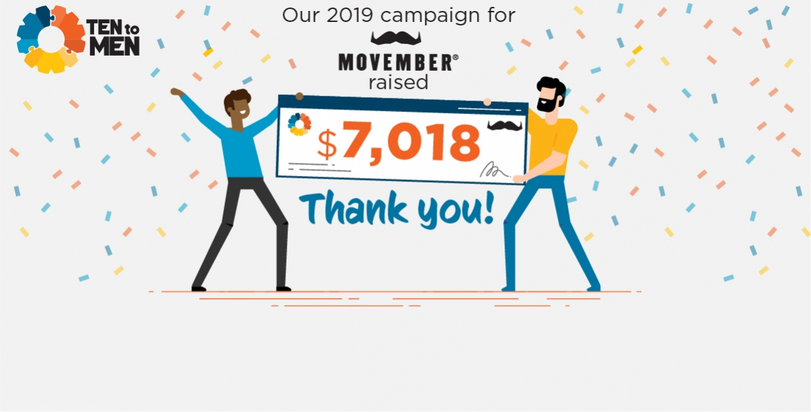 Movember donations totalled $7018