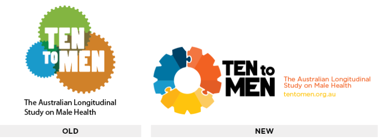 Ten to Men old logo and the new logo